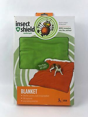 """Insect Shield Pet Blanket Built In Insect Protection - Green - Large (74"""" x 56"""")"""