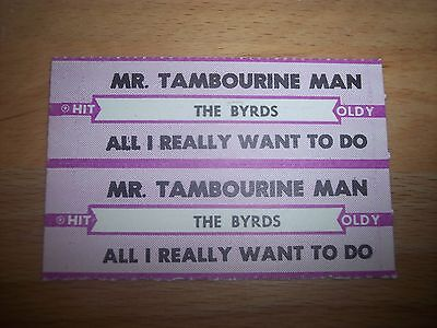 """2 The Byrds Mr. Tambourine Man Jukebox Title Strips CD 7"""" 45RPM Records"""