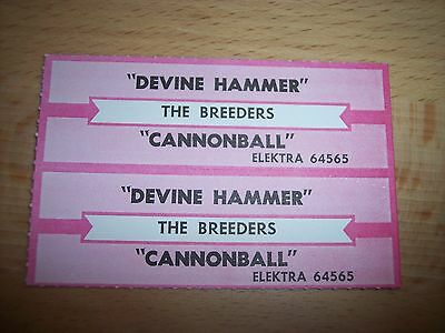 """2 The Breeders Devine Hammer/Cannonball Jukebox Title Strip CD 7"""" 45RPM Records"""