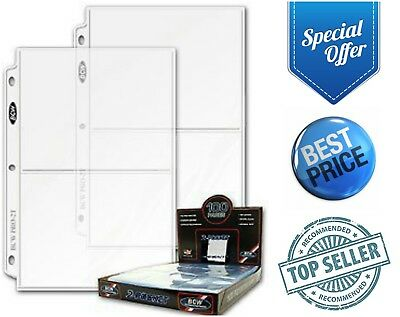 """2-Pocket Photo Pages 25-Pack 5"""" X 7"""" Photos Organizer 3-Ring Binder Sleeves"""