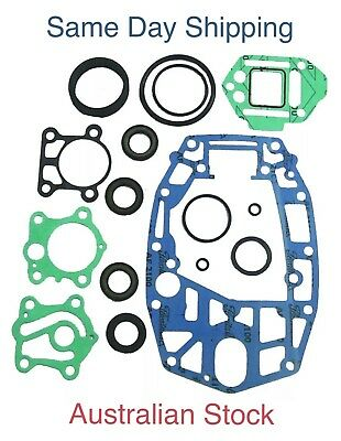 New Yamaha Lower Unit Gearcase Gearbox Gasket Seal Kit 40 50 HP 6H4-W0001-21