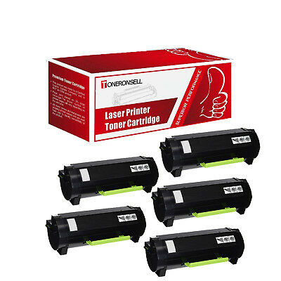 5PK 51B1000 Black Remanufactured Made in USA Toner Cartridge For Lexmark MS317