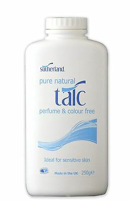 Sutherland Pure Natural Talc 250g (Pack of 6)