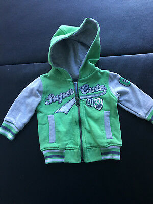 Baby Boys hooded Jacket  -  Size 00  Green