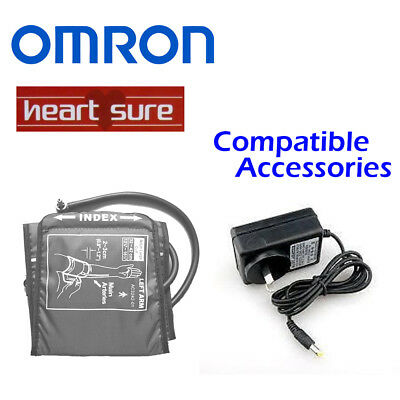 New Omron Blood Pressure Monitor regular large cuff AC power adapter free post