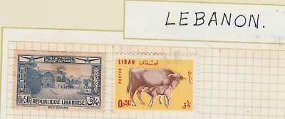 LEBANON COLLECTION Cow and Calf, Beit-Eddine, VFU tone as per scan #