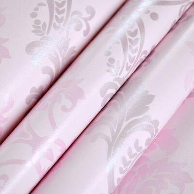 10m Pink Contact Paper Self Adhesive Wallpaper Proof Shelf Drawer Liner Decor