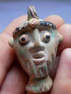 Antique Mosaic Glass Head Pendant
