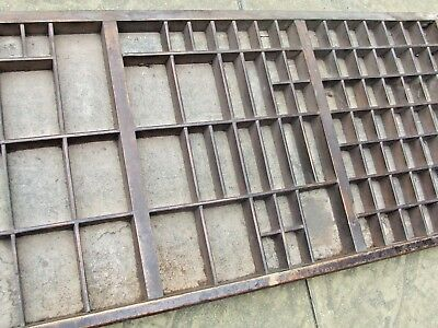 Letterpress Printing VERY OLD FIGGINS WOODEN TYPECASE With Split Compositor Case
