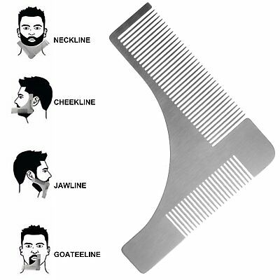 Stainless steel Beard Styling & Shaping Template Comb Trim Tool Perfect for Line