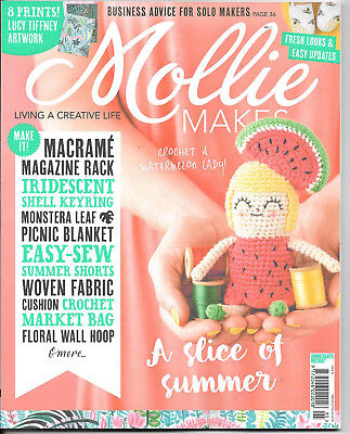 Mollie Makes Magazine, Issue 95, Current Issue, FREE Gift, Embroidered necklace