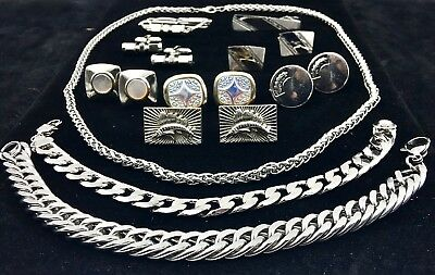 Vintage Men's Costume Jewelry  Accessories Estate Lot of 9 Pristine Items