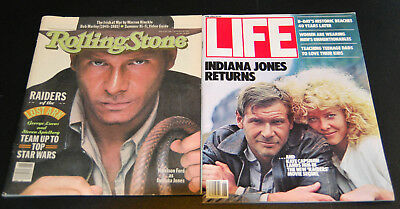Indiana Jones Rolling Stone No. 346 1981 and Life June 1984 Harrison Ford