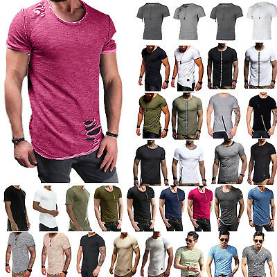 Mens Short Sleeve T-shirts Muscle Sport Basic Tops Slim Fit Summer Casual Tee AU