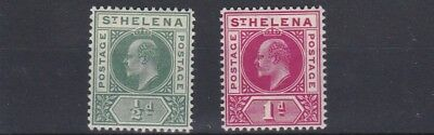 St Helena  1902   S G 53 - 54    Set Of 2  Mh