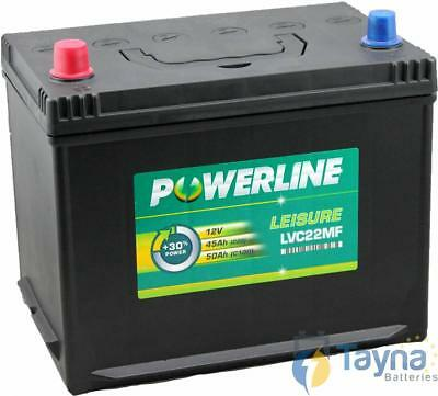 LVC22MF Powerline Batterie Camping Bateau 12V