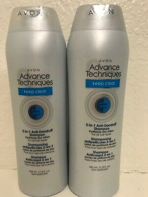 *Lot of 2*  Avon Advanced Techniques Keep Clear Anti Dandruff Shampoo 2-in-1