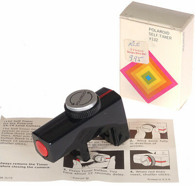 One (1) Original Mint Boxed Polaroid SX-70 132 Self-Timer - Tested Working Fine!
