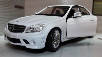 1:24 Scale Mercedes C Class CL 63 CL63 Class AMG V8 Detailed Model Car White