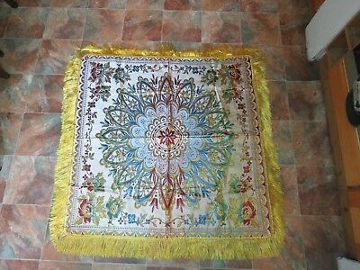 Beautiful Antique  Silk Piano Shawl Throw