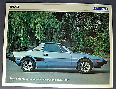 1979 Fiat X1/9 Bertone Sales Brochure Sheet Excellent Original 79