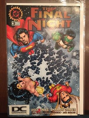 The Final Night #3 Batman Superman Rare DC Universe Logo Variant JLA 1996