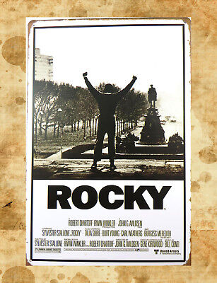 US Seller-Rocky - Movie Score Arms Up metal poster tin sign tin plaque