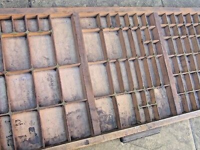 Letterpress Printing WOODEN TYPECASE  S.B.&Co. GOOD CONDITION DIRTY Compositor's