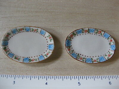 Dollhouse Miniature Porcelain Oval Dish, Platter