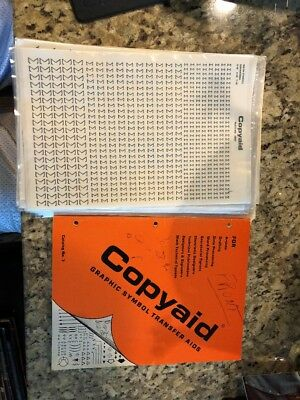 Vintage Copyaid Graphic Symbol Aids Catalog 7 And 22 NEW Transfer Plates  RARE