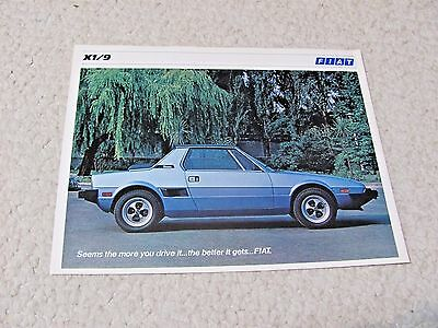 1978 FIAT X1/9 (USA) SALES BROCHURE.....rare.