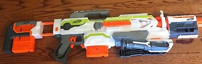 Nerf N-Strike Modulus ECS-10 (Used) with (2) 6-Dart Clips, Batteries and More
