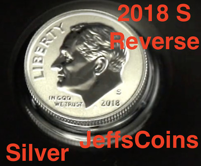 2018 S REVERSE 90% Silver Proof Dime Roosevelt 10¢ via San Fran US Mint Set 18XE