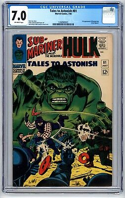 Tales to Astonish #81 CGC 7.0 1st Appearance of Boomerang phl1