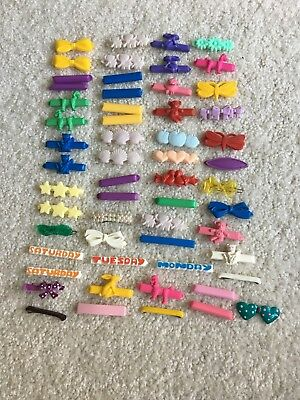 Large Lot of 57 Vintage Retro Hair Clips Barrettes Girl's Child's Clasp