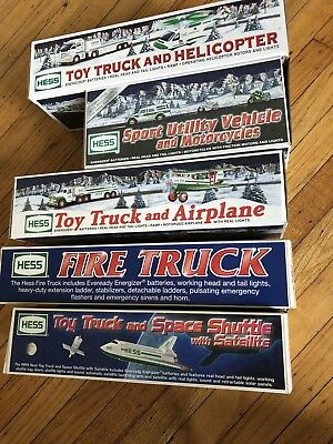 Hess truck lot 1999, 2000, 2002, 2004, 2006 - in pretty good condition with boxs
