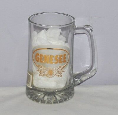 Vintage Genesee Brewery Glass Beer Mug - Mallard on the back