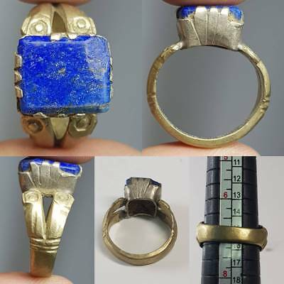Medieval Old Lapis lazuli Stone Beautiful Ring   # 2B