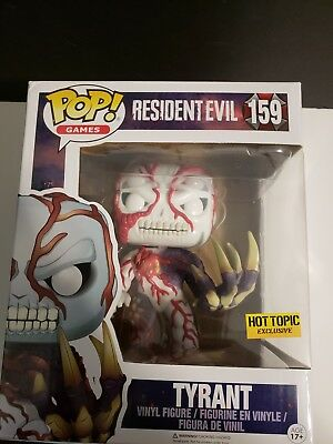 "FUNKO POP! GAMES RESIDENT EVIL TYRANT #159 Hot Topic 6"" Super Size Figure HTF"
