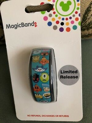 Disney Parks Magic Band Pixar Emoji Teal Magicband 2 Toy Story New Buzz Woody