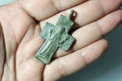 BYZANTINE BRONZE CROSS 6th - 8th AD.