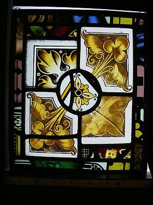 Stained Glass Panel, containing interesting Victorian fragments