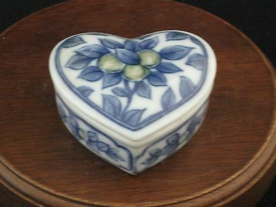 "Hand Crafted Japanese Fine Porcelain ""Heart"" Trinket Box"