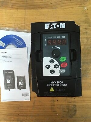 1Hp Mvx9000 Eaton Cutler Hammer Mvx001A0-1 120Vac 1-Phase In, 220Vac 3-Phase Out