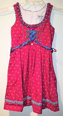 Country Life German Girl's Dress Sized 116 US Size 6 Ocktober Fest