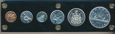 1965 Canada Silver Proof Like Set **in Capitol Plastic** Six Beautiful Coins!