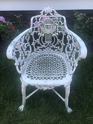 Vintage Neoclassical Style Cast Garden Chair