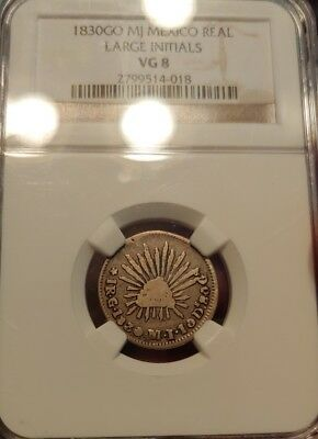 1830 GO MJ Mexico Real NGC VG 8 Large Initial Variety This Is Rare!