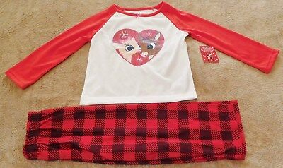 RUDOLPH THE RED NOSE REINDEER Girl's Pajamas....3T....NWT