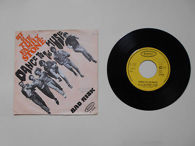 """Single 7"""" SLY & THE FAMILY STONE - Dance to the music - Bad risc - EPIC 1968"""